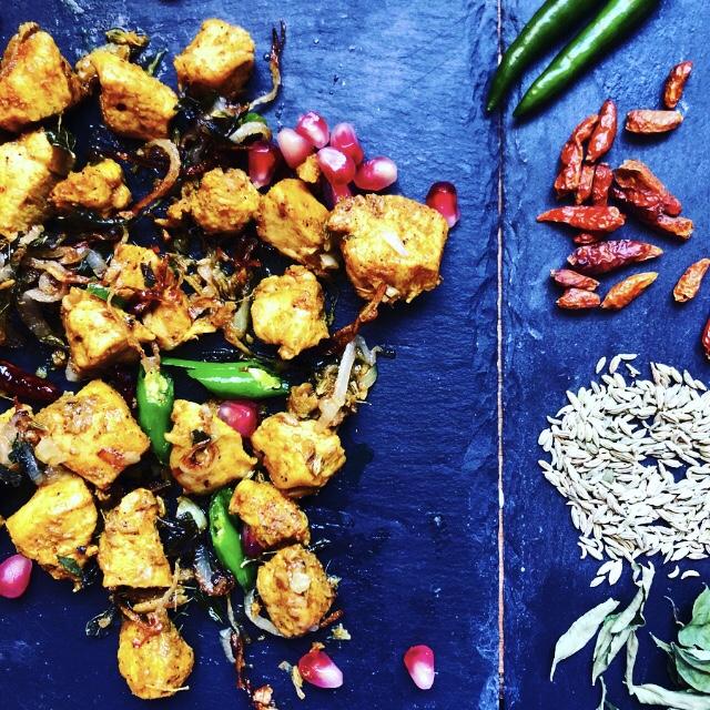 Recipe for making fried Kerala chicken