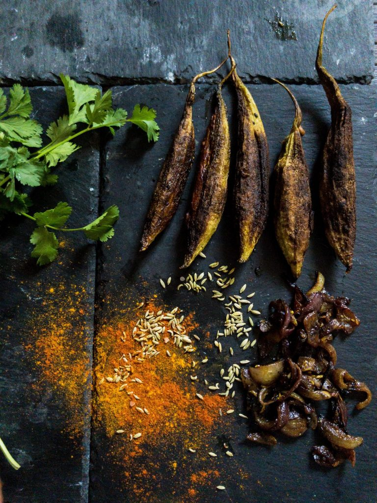 Recipe for making karela with saunf