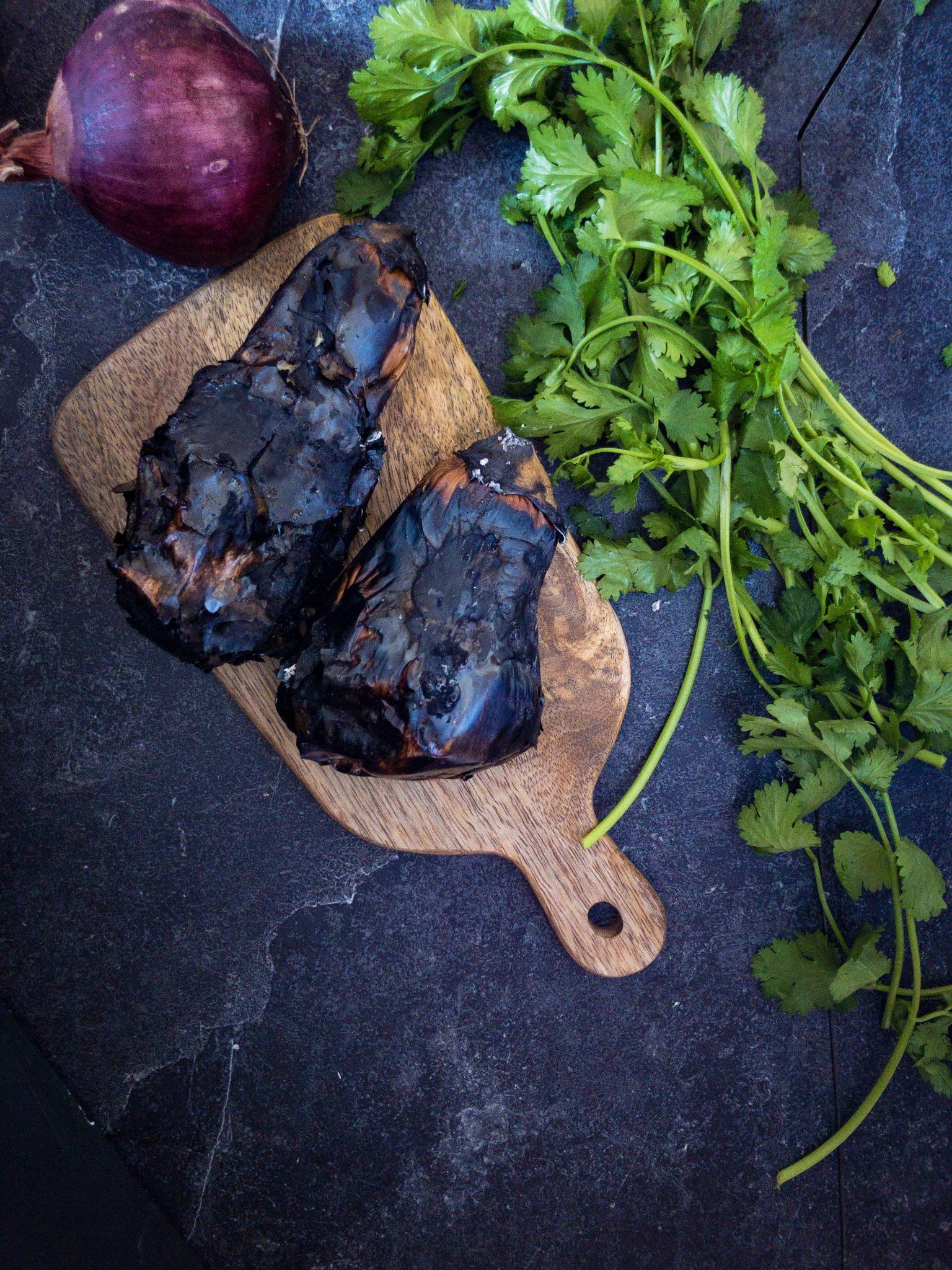 Recipe for making eggplant bhartha