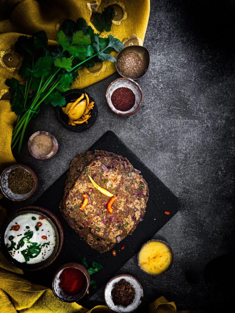 Vegetable Soup Parathas