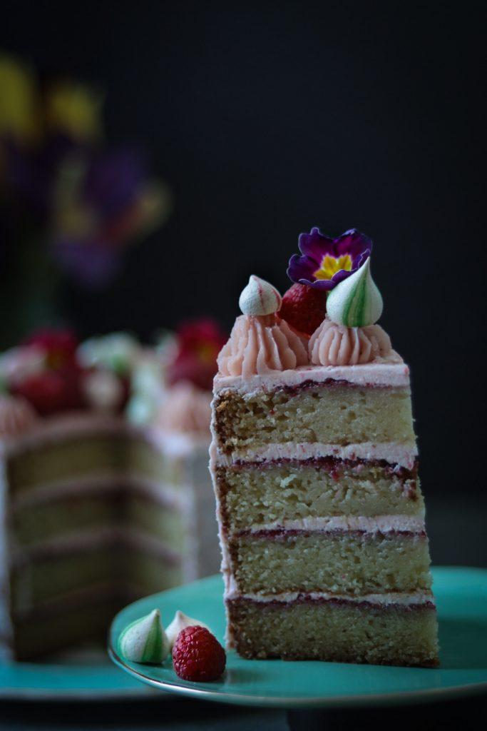 Raspberry Jam Cake with Swiss Meringue Buttercream