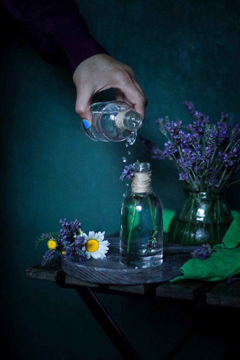 Home-made lavender face toner