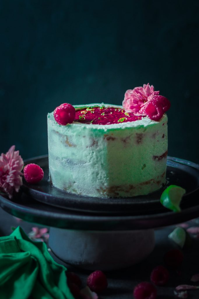 An amazing recipe for soft and moist vanilla cake with raspberry jam & mascarpone cheese frosting. A lovely cake for beautiful summer days.  Get baking now!