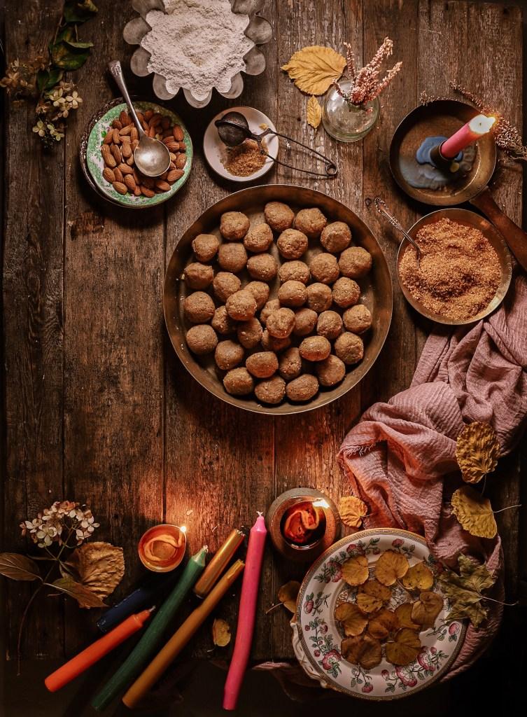 Khoya and atta pinni recipe